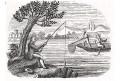 Rybář, litografie, (1830)
