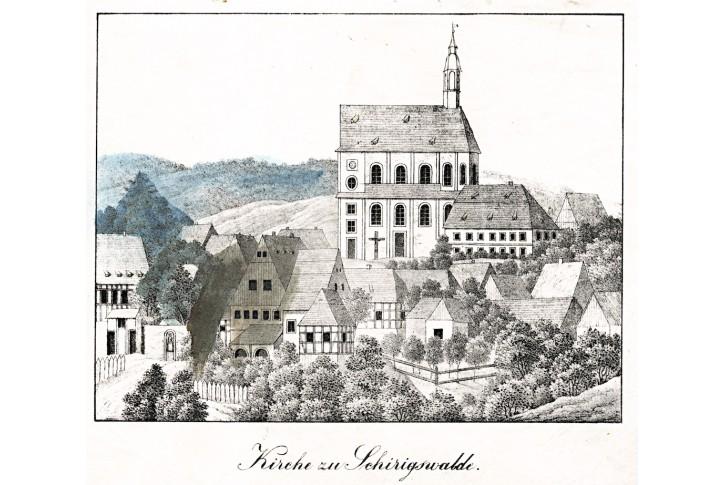 Schirigswalde, litografie, 1837