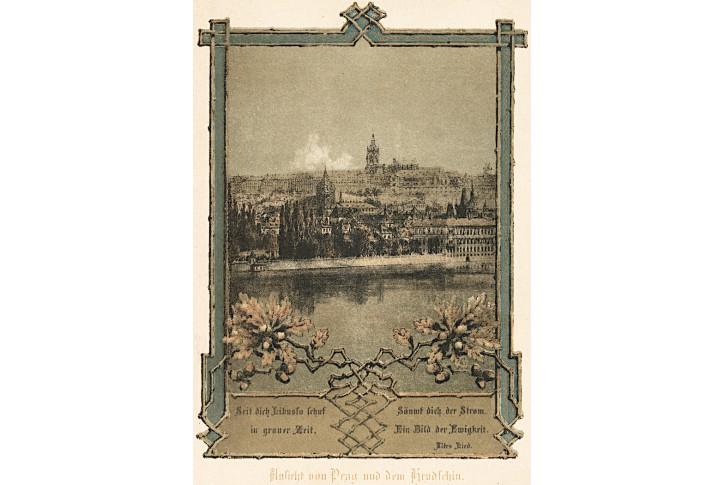 Praha, chromolitografie, (1890)