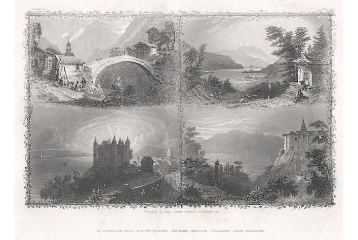 Mount Pilatus, Payne, oceloryt, 1850