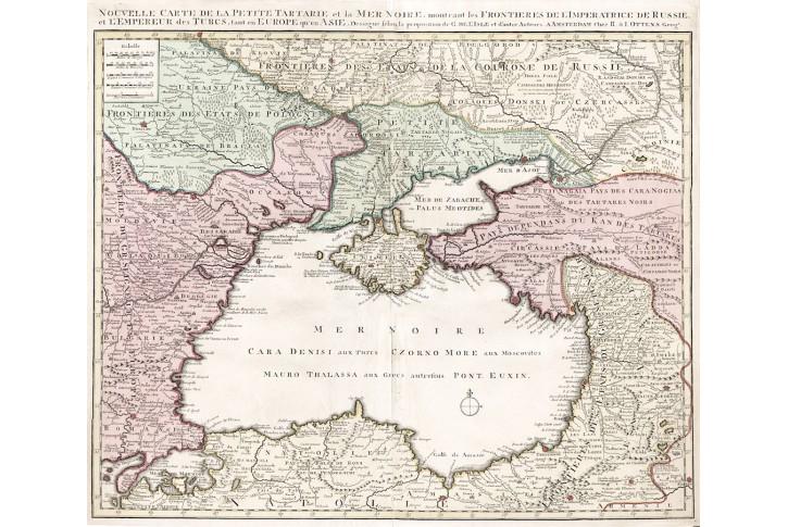 Ottens : Tartarie, kolor. mědiryt, 1720