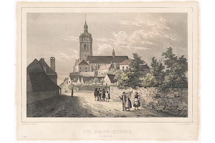 Mělník Petr a Pavel, Semmler, kolor. litogr., 1845