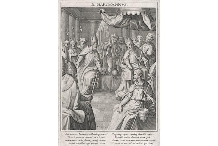 Sv. Hartman, R. Sadeler ,  mědiryt, 1714