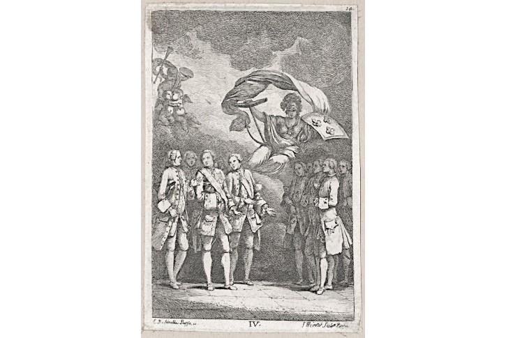 Poussin podle Weirotter, mědiryt , 1764