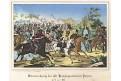Přerov bitva, Oeser, Litografie, 1870