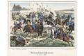 Prostějov bitva, Oeser, Litografie, 1870