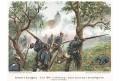 Bitva  u Hradce, Knötel, chromolitografie, (1900)