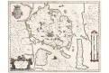 Blaeu : Fionia, kolor. mědiryt, (1640)