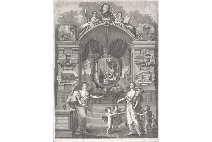 Hus Jan, mědiryt, (18. stol.)