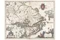 Blaeu : Uplandia, kolor. mědiryt, (1640)