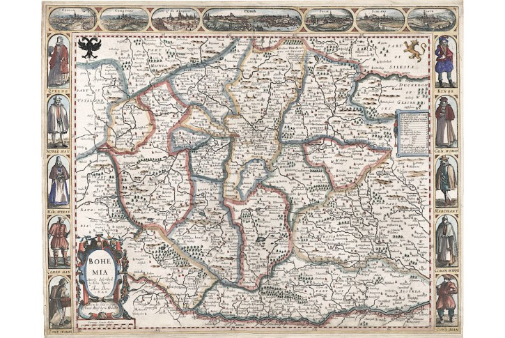 Speed J.: BOHEMIA, mědiryt 1626