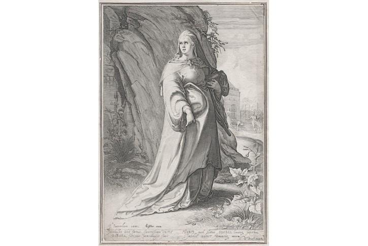 Debora, Saenredam, mědiryt, (1600)