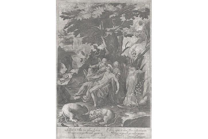 Svatý Jeroným, Remondini, mědiryt, 18. stol