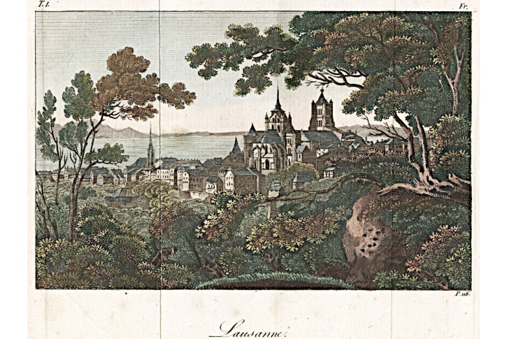Lausanne, kolor. mědiryt , 1824