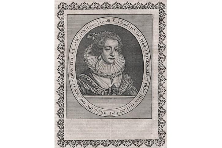 Alžběta Falcká, Merian,  mědiryt, 1640