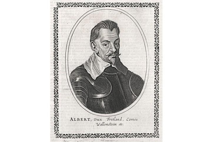 Valdštejn Albrecht, mědiryt, (1650)