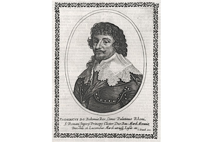 Fridrich Falcký, mědiryt, (1650)