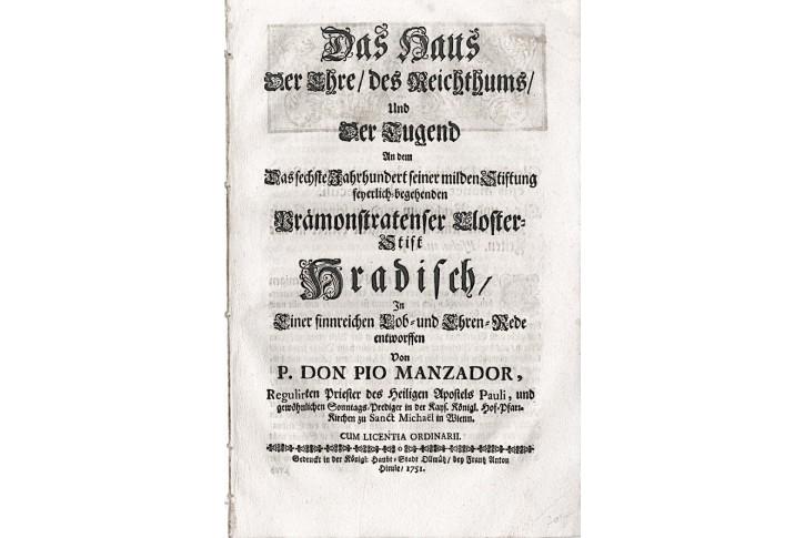 Německé barokní kázání Das Haus..., Olom. 1751