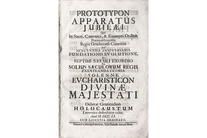 Latinská promluva Prototypon apparatus, Olom. 1751