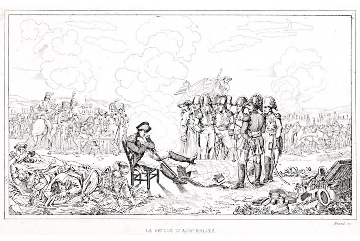 Napoleon před bitvou u Slavkova, lept (1840)