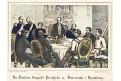 Mikulov mírová smlouva, Oeser, Litografie, 1870