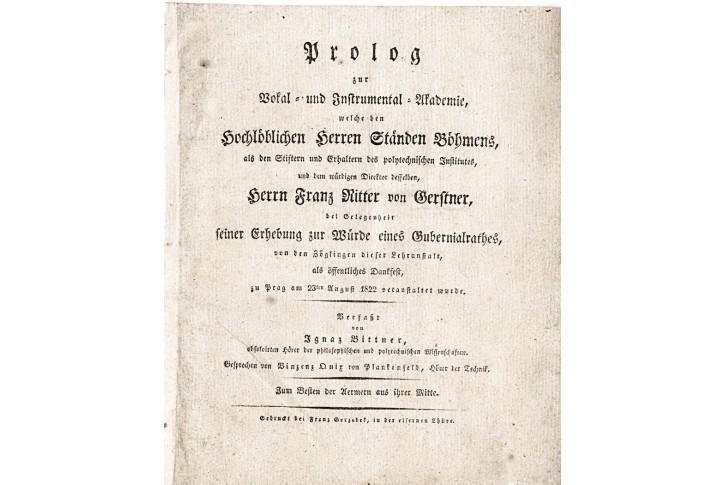 Prolog zur Vokal- und Instr.- Akademie, Prag 1822