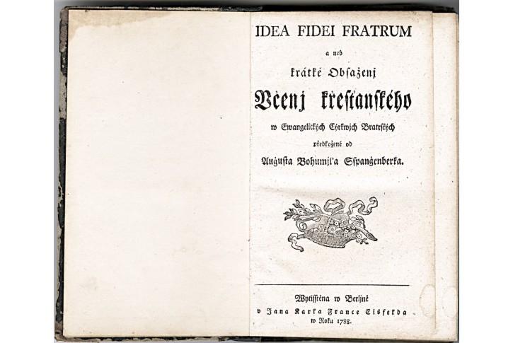 IDEA FIDEI FRATRUM, aneb kratke, Berlin, 1788