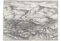 Loja - Loxa,  Braun Hogenberg.., mědiryt (1580)