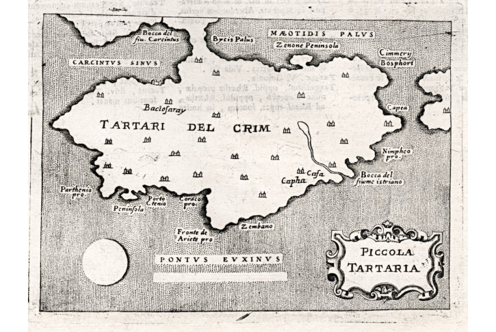 Krym, Lasor a Varea, mědiryt, 1713