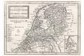 Netherlands, Moll, mědiryt, 1717