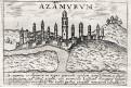Azemmour, Lasor a Varea, mědiryt, 1713