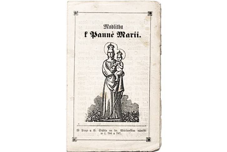 Modlitba k Panně Marii, Praha 1863