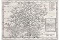 Čechy Bavorsko Rakousko, Moll, mědiryt, 1717