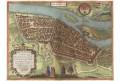 Magdeburg, Braun Hogenberg, kolor. mědiryt (1580)