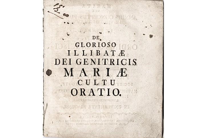 De Glorioso Illibatae ...Mariae, Praha, (1760)