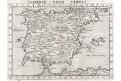 Hispania, Ruscelli, mědiryt, 1574
