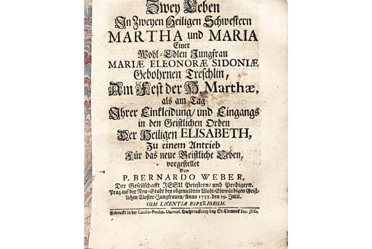 Weber B.: Martha u Maria,  Pha, 1732