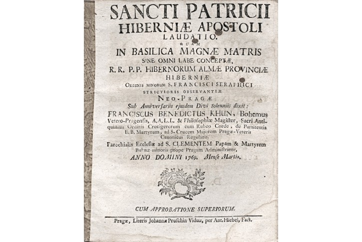SANCTI PATRICII HIBERNIAE  LAUDATIO Pha, 1769