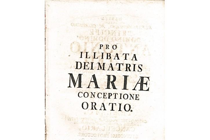 PRO ILLIBATA DEI MATRIS MARIAE, Pha, 1770