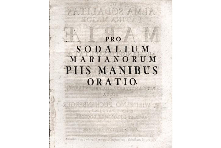 Pro Sodalium Marianorum .. Oratio, Pha, 1766