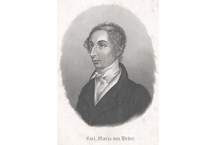 Carl Maria von Weber, oceloryt, (1840)