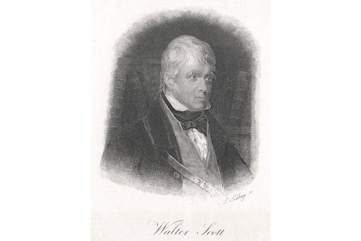 Walter Scott, oceloryt, 1860
