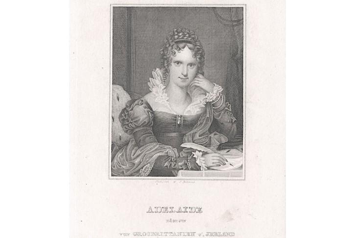 Adelheid Sasko-Meiningenská, oceloryt, 1860