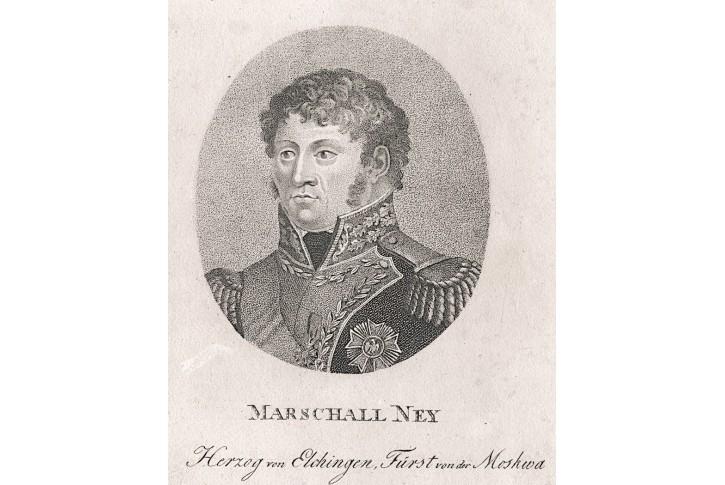 Ney Marschall, Bohman,  mědiryt , 1820
