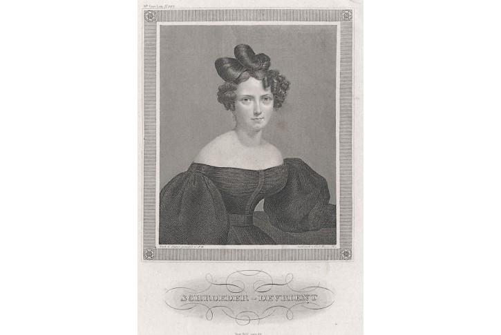 Wilhelmine Schröder-Devrient, oceloryt, (1860)
