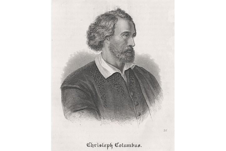 Kryštof Kolumbus, oceloryt, (1850)