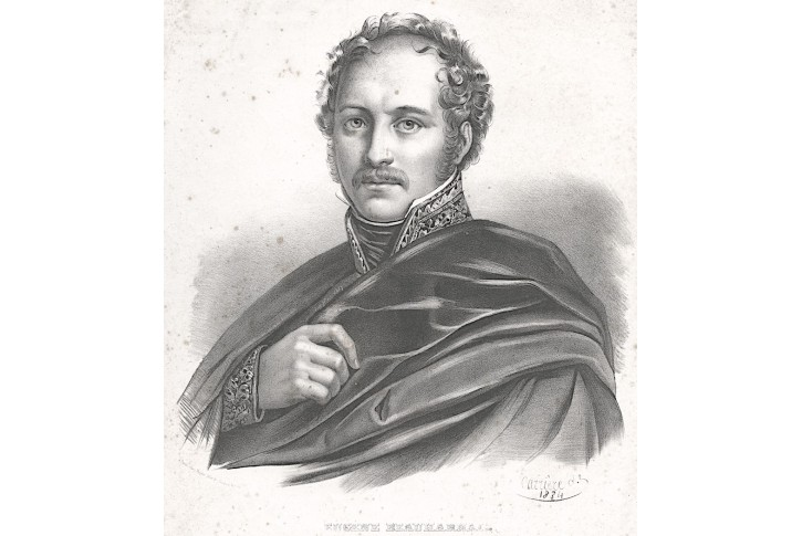 Eugène de Beauharnais,  Carriere, litografie, 1834