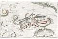 Kolín bitva plán, mědiryt, 1757
