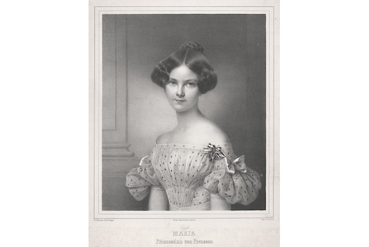 Maria von Preussenn, litografie, (1830)