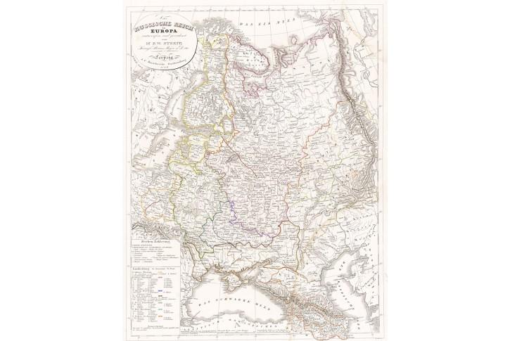Russische Reich, Stein, kolor. oceloryt, 1847